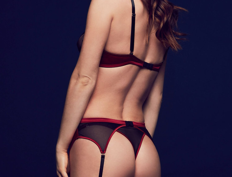 Odette Suspender Garter Belt Lace Lingerie Tatu Couture Killed in Action Store