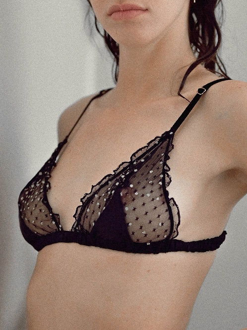 Fitzgerald Triangle Bra House of Marlow Handmade Lingerie Luxury Lingerie Store Killed in Action