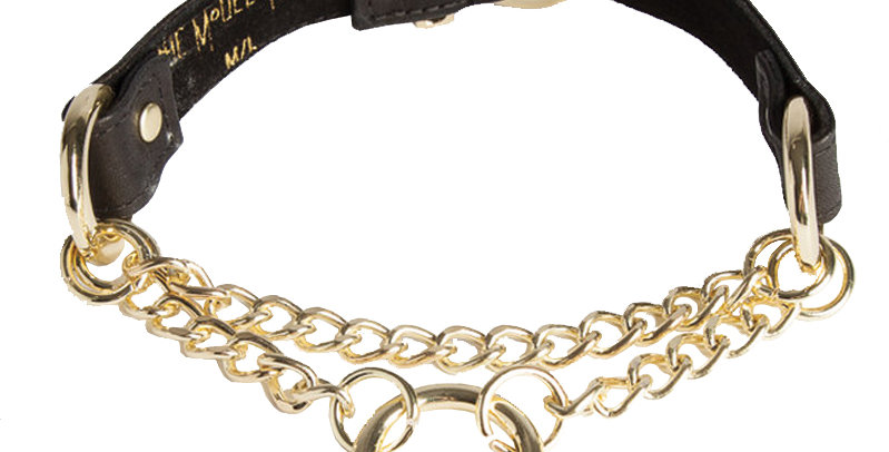 Chain 'O' Collar - The Model Traitor - Killed in Action Luxury Lingerie - leather Collar Bondage