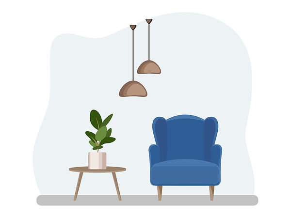 Therapist chair online counsellor room