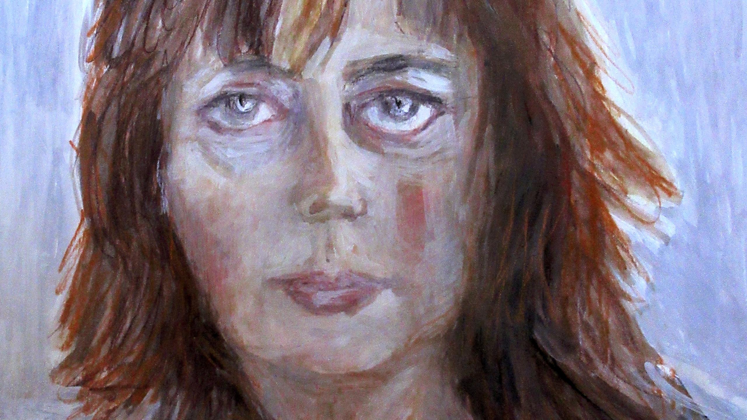 AutoAnalyseX aquarelle, pastel sec 30x40cm 2019 Catherine OLIVIER