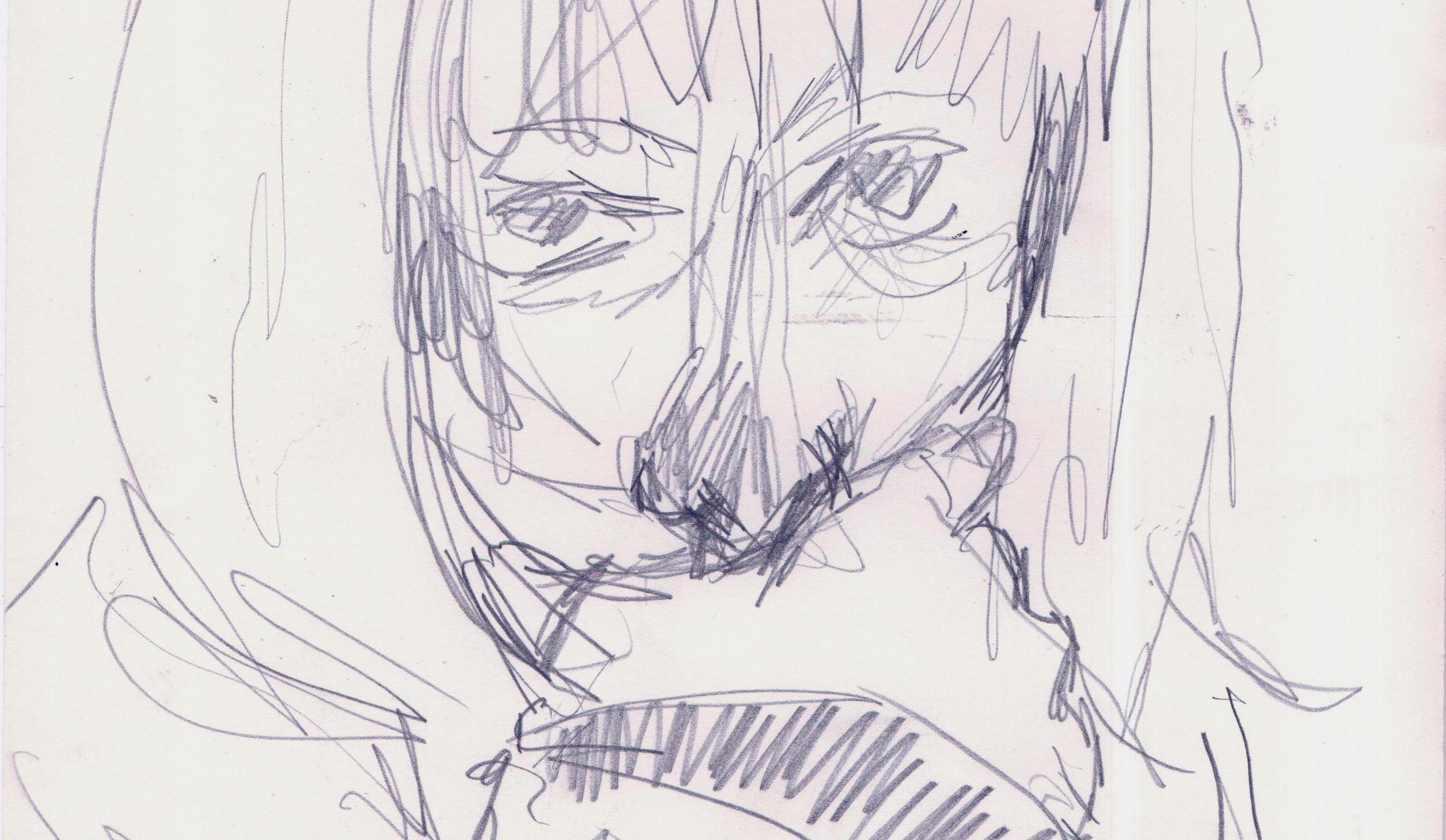 croquis I  crayon de bois 21x29,7cm 2012 Catherine OLIVIER