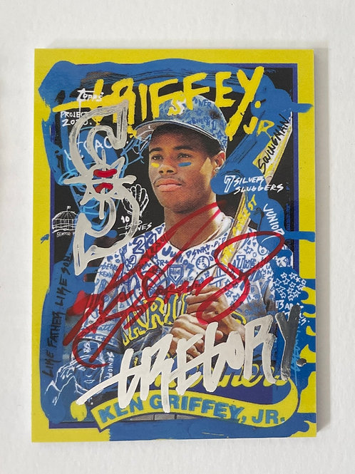 1989 Ken Griffey Jr. by Gregory Siff - Seattle Chrome Dual Autograph