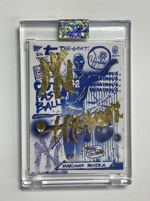 1992 Mariano Rivera by Gregory Siff - 19K Gold Leaf Autograph