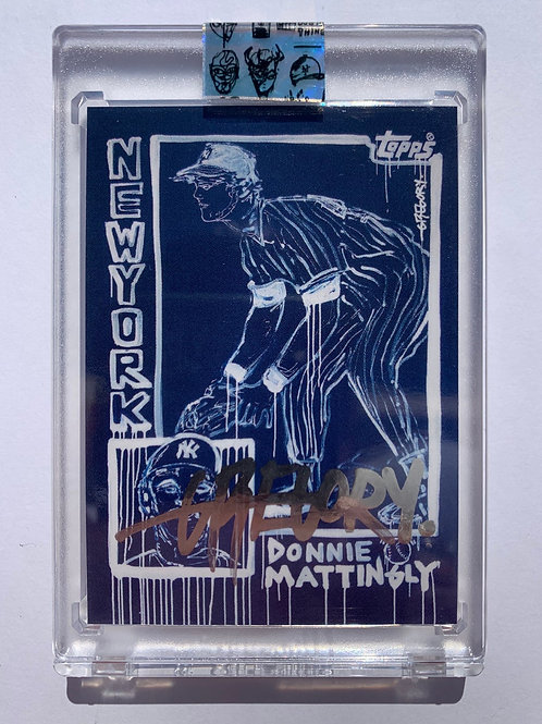 1984 Don Mattingly by Gregory Siff - Liquid Chrome Autograph