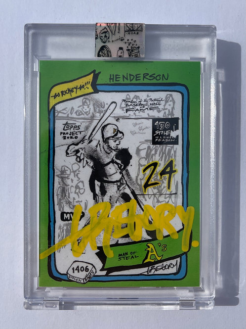 1980 Rickey Henderson by Gregory Siff - Yellow Autograph
