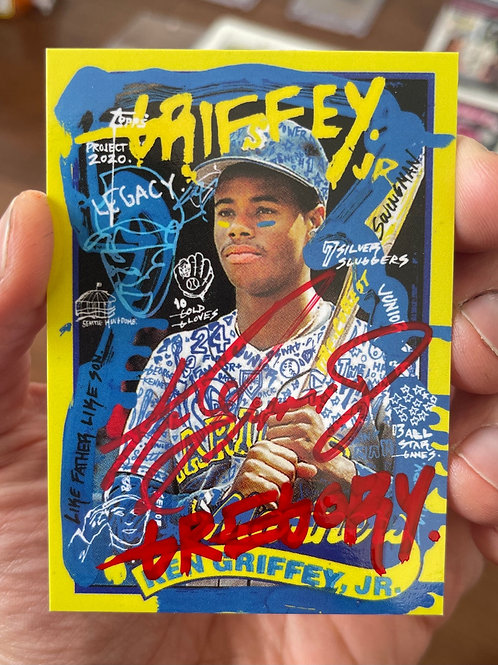 1989 Ken Griffey Jr. by Gregory Siff - Dual Autograph