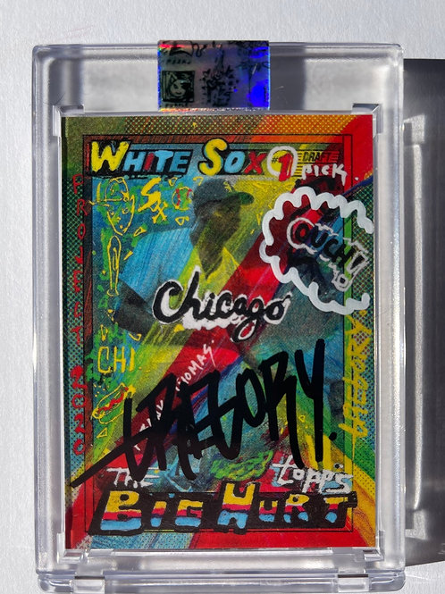 1990 Frank Thomas by Gregory Siff - Mette Black Autograph