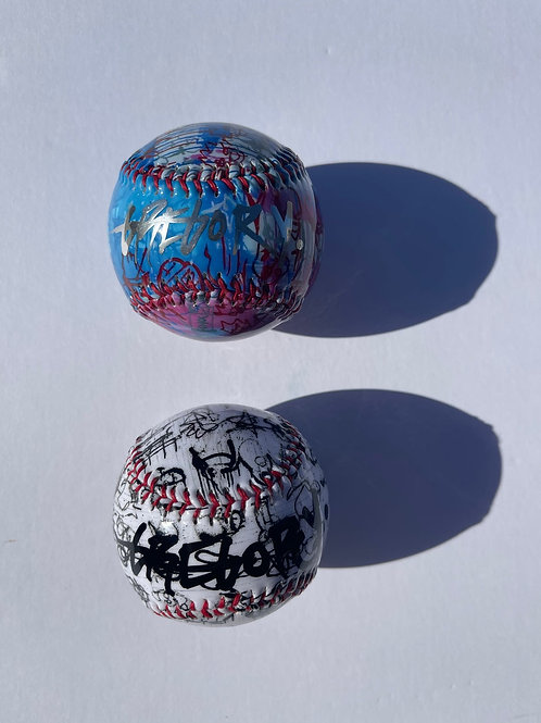 Chrome & Black Autograph Baseball by Gregory Siff - 2-Pack
