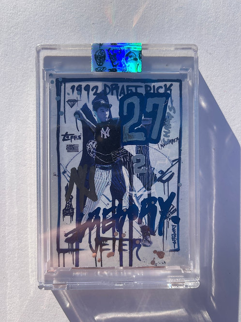 1993 Derek Jeter by Gregory Siff - Chrome + Blue Autograph