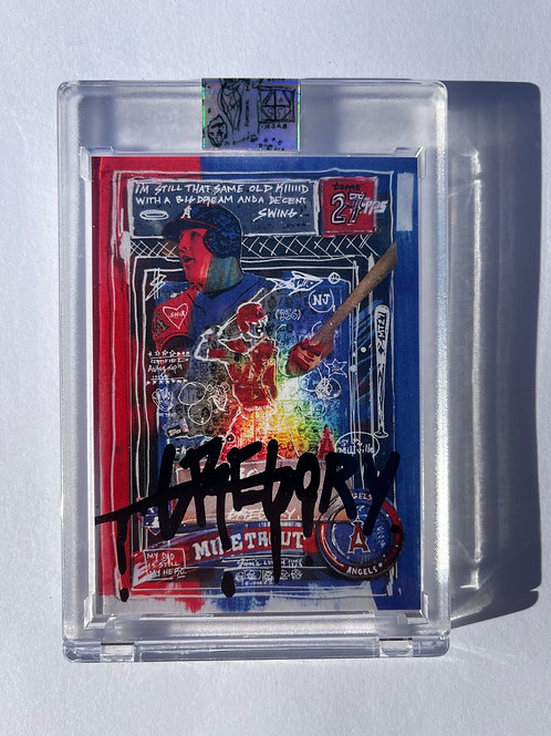 2011 Mike Trout by Gregory Siff - Krink Black Autograph