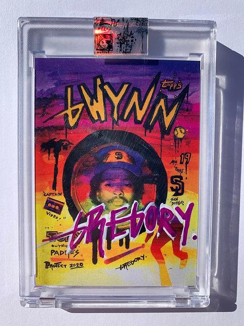 1983 Tony Gwynn by Gregory Siff - Purple White Autograph