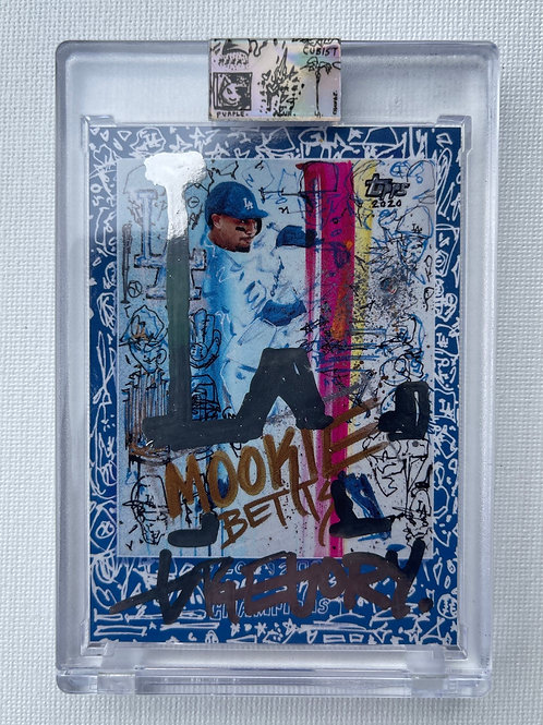 Topps X Gregory Siff - Mookie Betts World Series Champions - Chrome Autograph