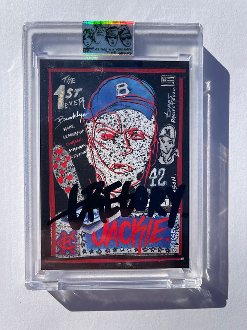 1952 Jackie Robinson by Gregory Siff - Krink Black Autograph