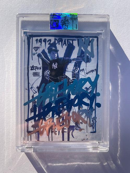 1993 Derek Jeter by Gregory Siff - Triple Blue Autograph
