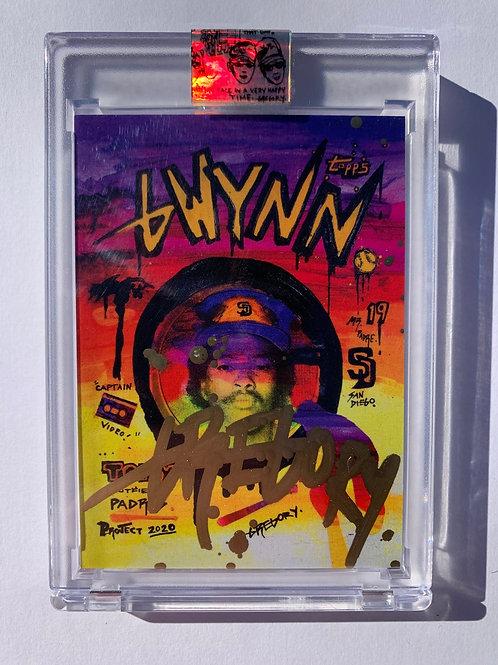 1983 Tony Gwynn by Gregory Siff - Gold Drip Autograph