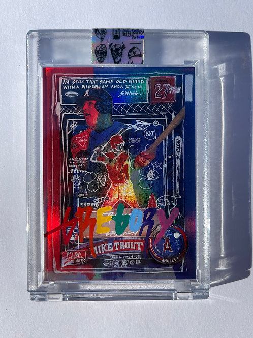 2011 Mike Trout by Gregory Siff - Rainbow Foil Autograph