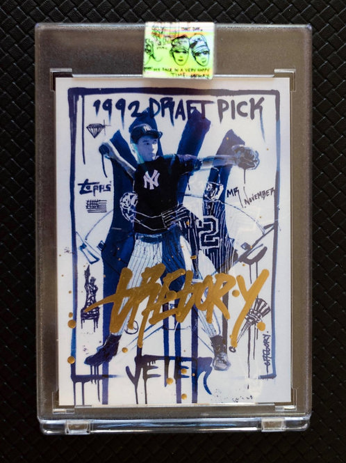 1993 Derek Jeter by Gregory Siff - Metallic Gold Autograph