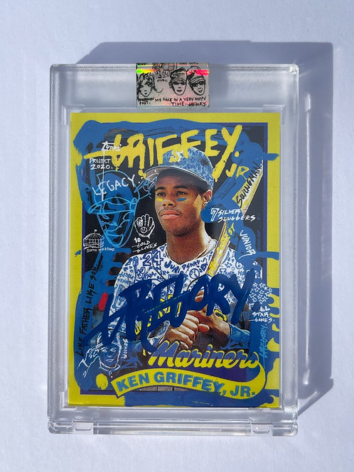 1989 Ken Griffey Jr. by Gregory Siff - Blue Autograph
