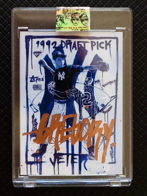 1993 Derek Jeter by Gregory Siff - Rose Gold Autograph