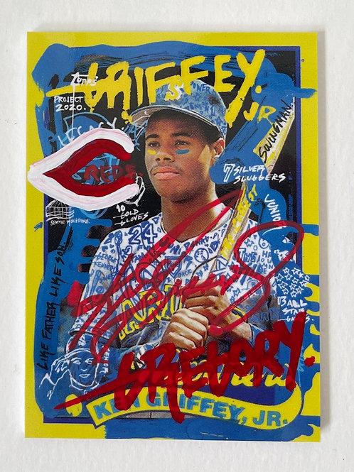1989 Ken Griffey Jr. by Gregory Siff - Cinci Dual Autograph
