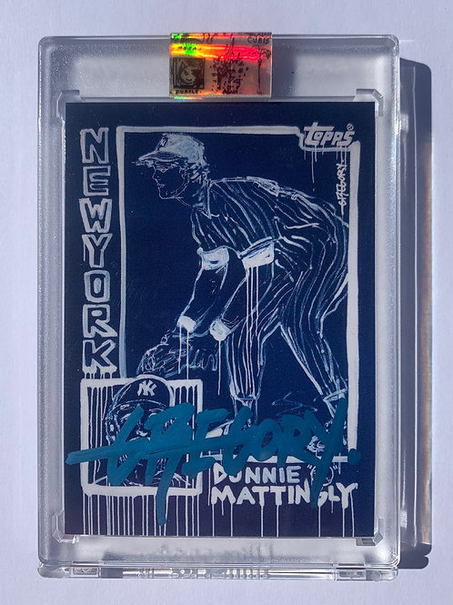 1985 Don Mattingly by Gregory Siff - Bomber Blue Autograph