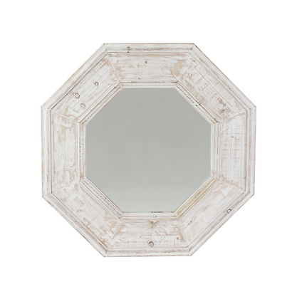 Recycled Pine Octagonal Wall Mirror