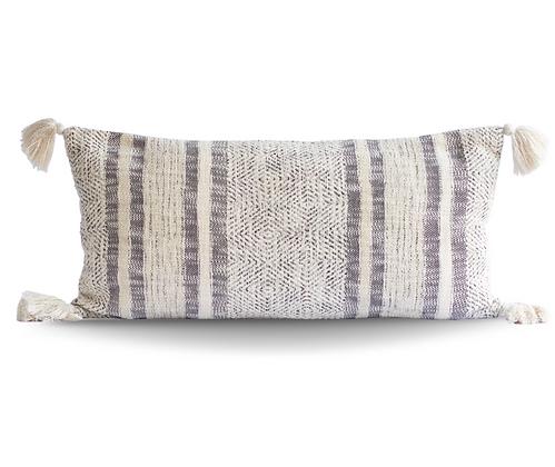 Diamond and Stripes Cotton Pillow Cover