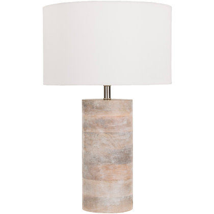 Bleached Wood Lamp