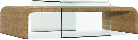 Rope and Glass Cocktail Table
