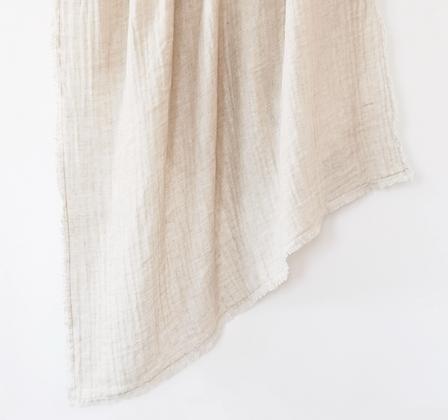 Stonewashed Linen Throw