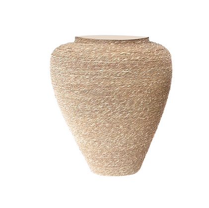 Seagrass Rope Decorative Jar