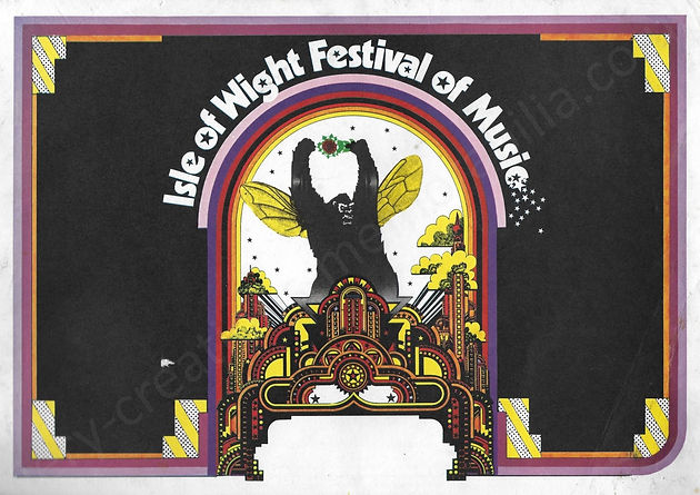 Isle of Wight Festival 1969 Programme Memorabilia Bob Dyaln The Who