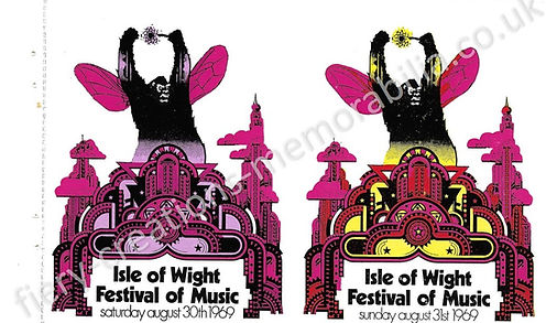 Isle of Wight Festival 1969 Ticket Memorabilia Bob Dylan The Who