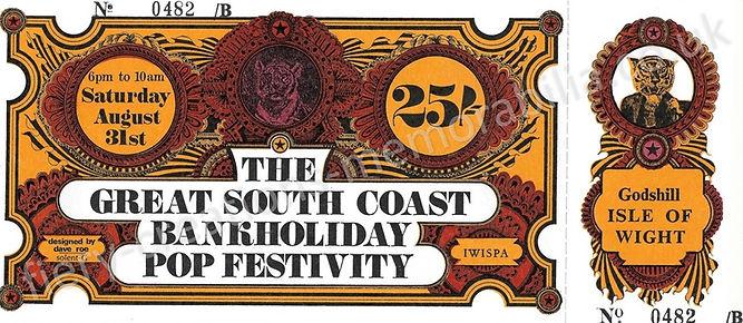 Isle of Wight Festival 1968 Ticket Memorabilia