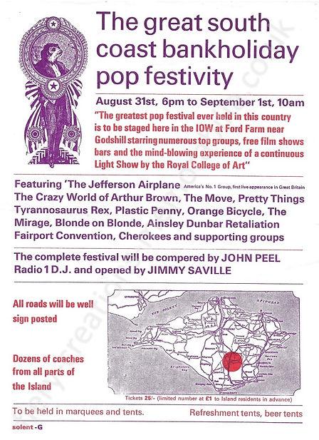 Isle of Wight Festival 1968 Flyer Memorabilia