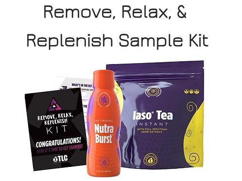 Remove, Relax, & Replenish Sample Kit