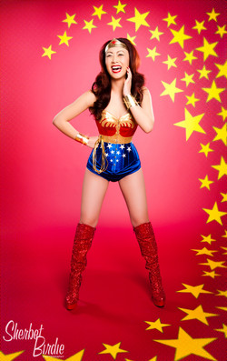 Maisie as Wonder Woman