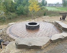 Brick paver fire pit