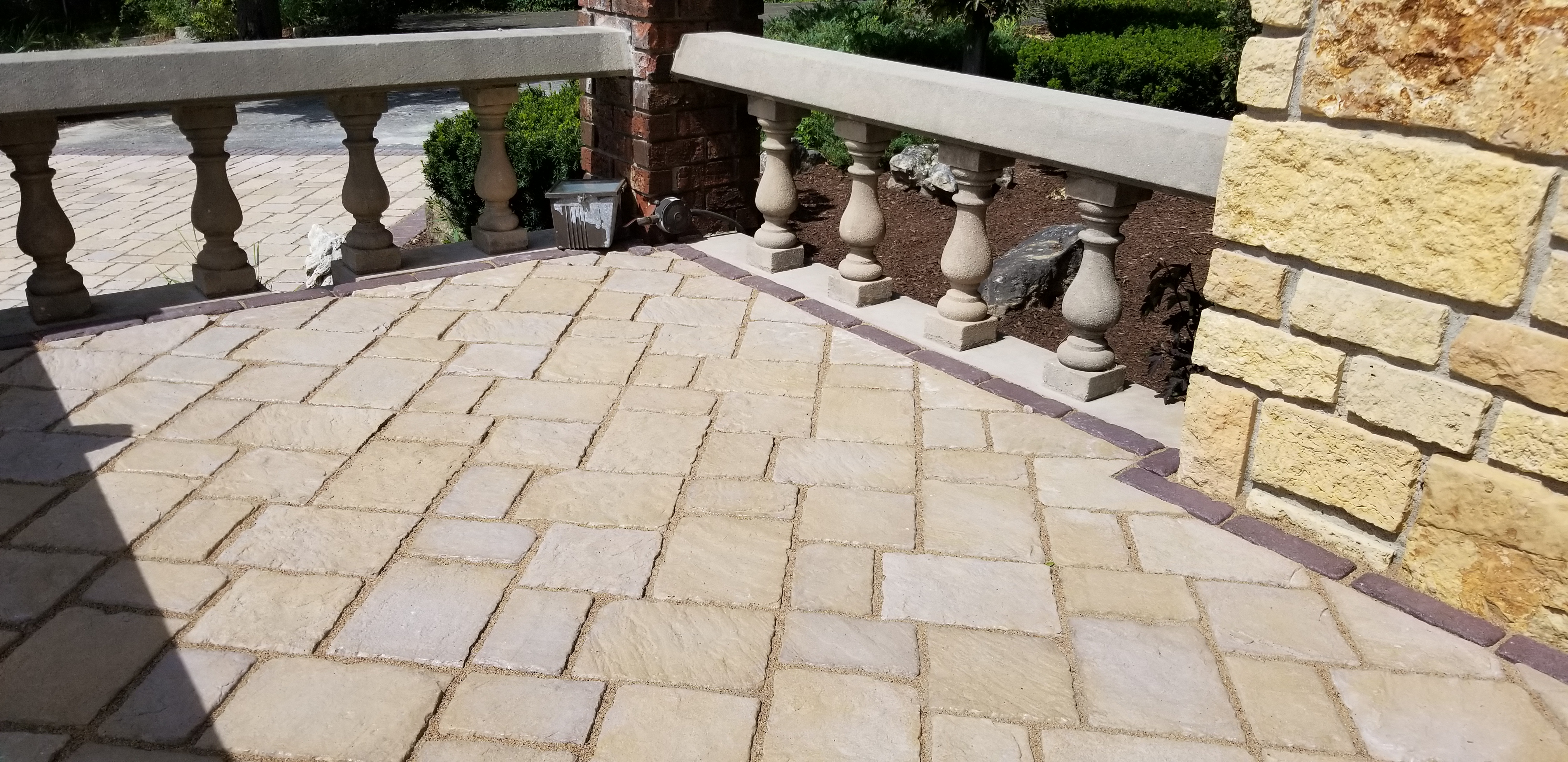 Brick Paver Porch with Accent Border