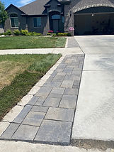 Brick Paver Driveway Accent