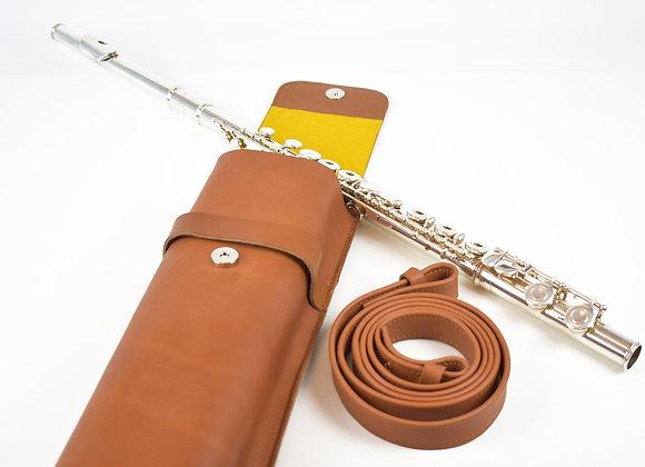 sac en cuir flûte traversière