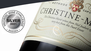 Silvermedalj till Christine-Marié Blanc de Blanc Brut i Vinordic Wine Challenge!
