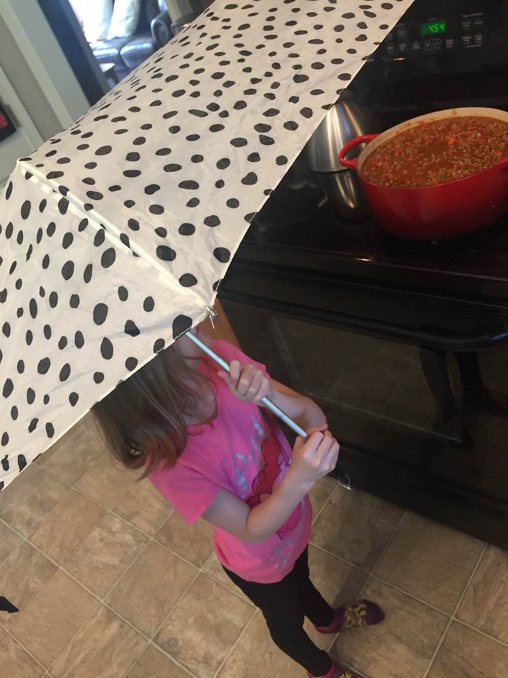 Rain or shine, this always brings them to the kitchen!