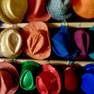 Rainbow hats