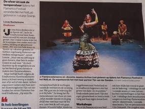 Flamenco Festival Eindhoven (eerste editie) in het Eindhovens Dagblad