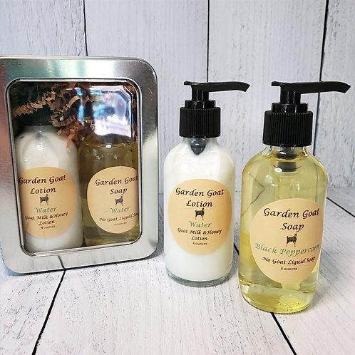 No Goat Liquid Soap & Goat Milk lotion