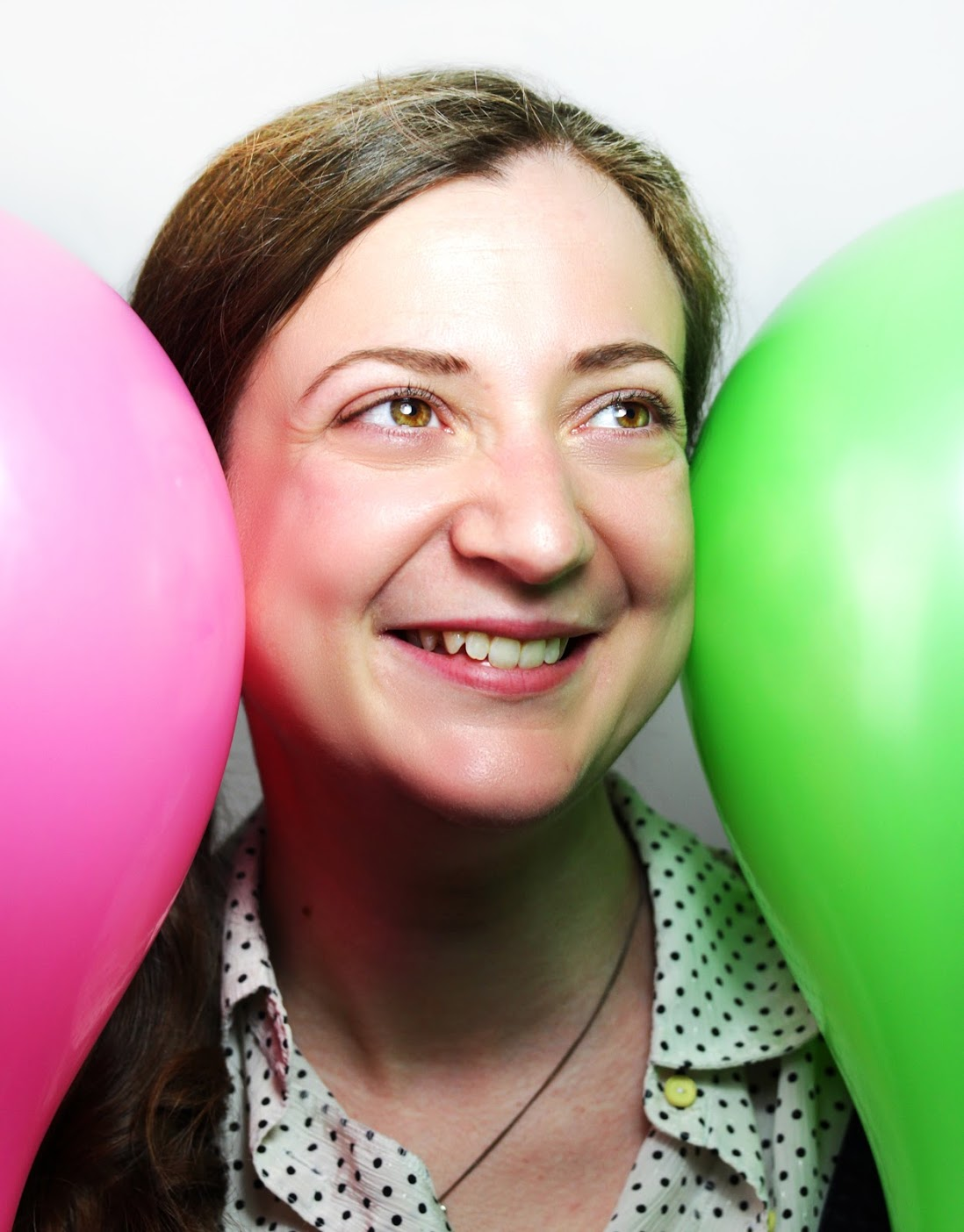 Leanne with balloons