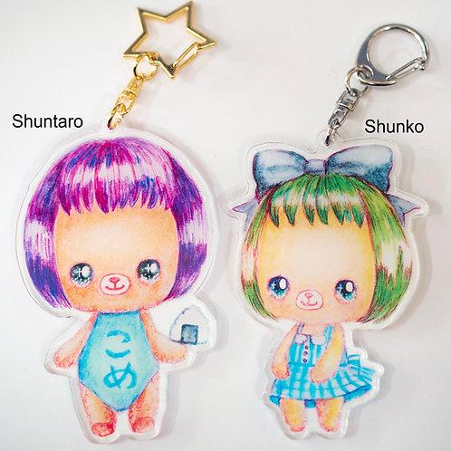 Key chain set(Shuntaro and Shunko)