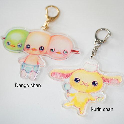 Key chain set (Dango chan and Kurin chan)